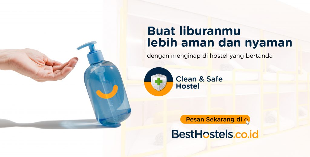 "Lencana ""Clean & Safe"" dari BestHostels Indonesia"