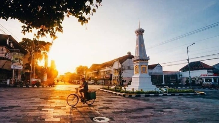Jalan Malioboro Yogyakarta disore hari